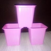 Горшок для рассады розовый 10 шт