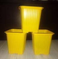 Горшок для рассады желтый квадр. 0,23л 10 шт
