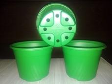 Горшок для рассады зеленый 0,5 10 шт