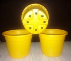 Горшок для рассады желтый 0,5 10 шт