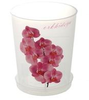 Горшок для орхидей с поддоном 1,2л прозрачный