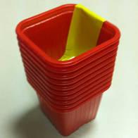 Горшок для рассады красный квадр. 0,23л 10 шт