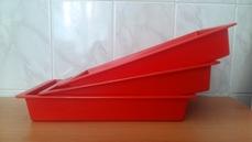 Поддон пластиковый красный