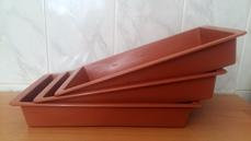 Поддон пластиковый коричневый